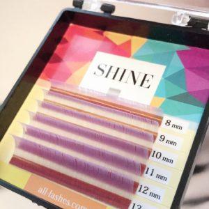 Мини-палетки SHINE цветные (сиреневый), 6 лент