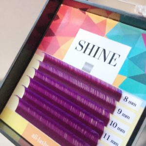 Мини-палетки SHINE цветные (фиолетовый), 6 лент