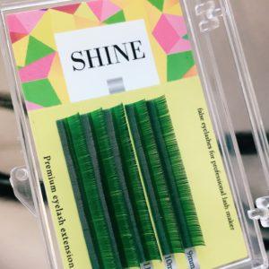 Mix Мини-палетки SHINE цветные Зелёные