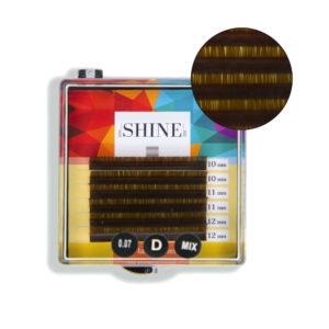 Мини-палетки elSHINE цветные (тёмно-коричневый), микс, 6 лент