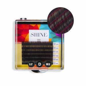 Мини-палетки elSHINE 2-х тоновые (красный), микс, 6 лент