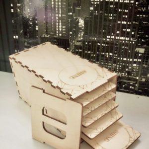 Лэшбокс elSHINE деревянный на 5 планшетов (размер S) 1