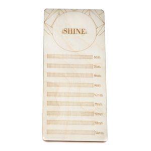 Планшет для ресниц elSHINE деревянный (размер S), 17х7,5 см
