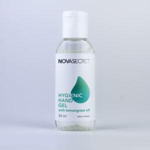Кожный антисептик NOVASECRET гелевый с маслом лемонграсса, 50 мл