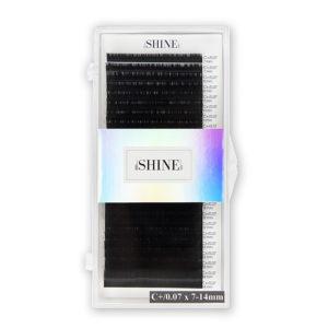 Ресницы чёрные elSHINE МИКС, 24 ленты 1