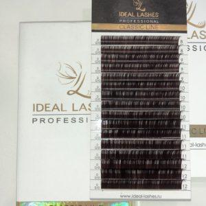 Тёмно-коричневые ресницы Ideal Lashes MIX (16 линий)