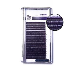 Цветные ресницы Be Perfect Ombre Dark Purple MIX 16 линий 1