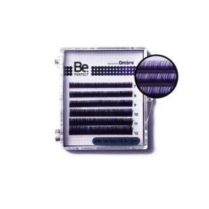 Цветные ресницы Be Perfect Ombre Dark Purple MIX 6 линий 1