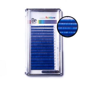 Цветные ресницы Be Perfect Rainbow Blue MIX, 16 линий 1