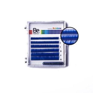 Цветные ресницы Be Perfect Rainbow Blue MIX, 6 линий 1