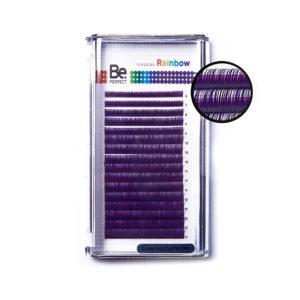 Цветные ресницы Be Perfect Rainbow Purple MIX, 16 линий 1