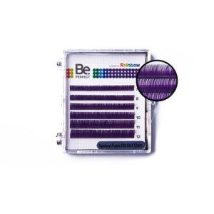 Цветные ресницы Be Perfect Rainbow Purple MIX, 6 линий 1
