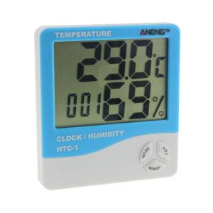 Электронный гигрометр-термометр HTC-1 голубой