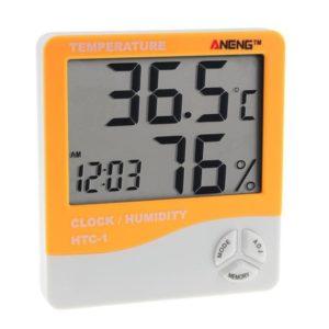 Электронный гигрометр-термометр HTC-1 оранжевый