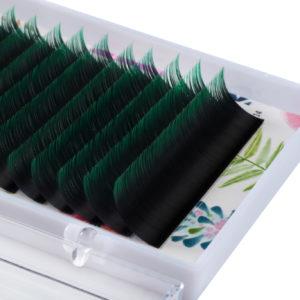Омбре ресницы Lash&Go микс Зеленый (16 линий)