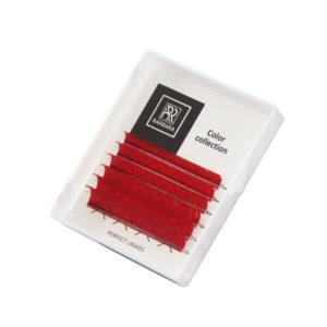 Цветные ресницы BARBARA (Красные) Мини-Микс, 6 линий 1