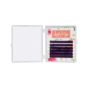 Цветные ресницы Lash&Go микс Фиолетовый (6 линий)