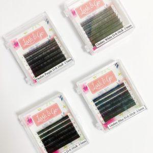 Омбре цветные ресницы Lash&Go МИКС изгиб D (8-13 мм), 6 линий