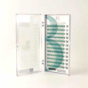 Ресницы черные I-Beauty fine volume lashes 3D-тип, 12 линий