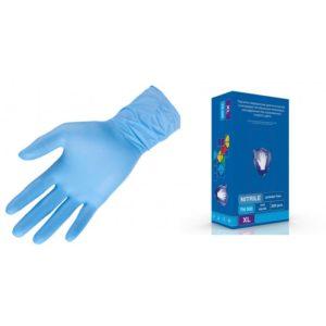 Перчатки нитрил, Голубые Safe&Care