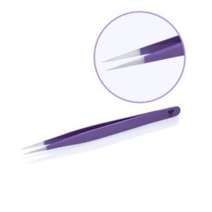 Пинцет для наращивания ресниц цветной Lovely Lavender Line прямой