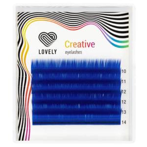 Ресницы Синие (Blue) Lovely MINI MIX, 6 линий
