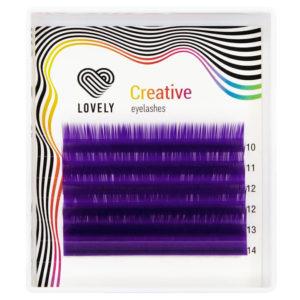Ресницы Фиолетовые (Purple) Lovely MINI MIX, 6 линий