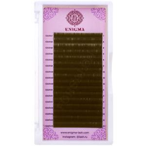 Ресницы Enigma цвет «Мокка» МИКС, Изгибы L, L+, M (16 линий)