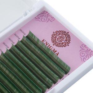 Цветные ресницы Enigma МИКС Зеленые