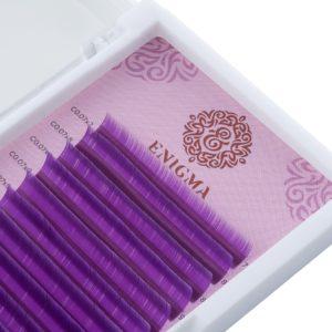 Цветные ресницы Enigma МИКС Фиолетовые