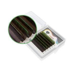 Ресницы двухтоновые Зелёные Lovely MIX, 6 линий