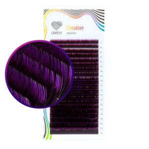 Ресницы двухтоновые Фиолетовые Lovely MIX, 20 линий