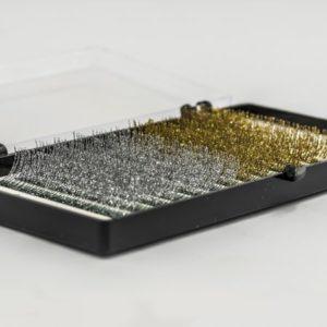 Ресницы с блестками NOVASECRET Glow, Gold-Silver (Золотистые и Серебристые), 12 линий, С 0,10 - 12 мм 1